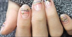 This bracelet nail art is a fun beauty trend to try this Summer.
