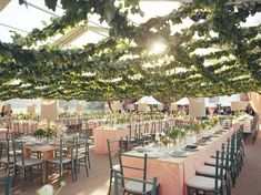 Tented Greenery - Wedding Flower Ideas You Can't Miss! - EverAfterGuide