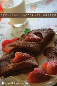 Peekaboo Chocolate Crepes - These are amazing!