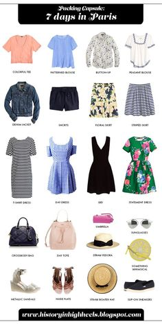 Packing for 7 Days in Paris (in the summer)