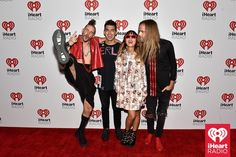 Joe Jonas and his band DNCE backstage at the iHeartRadio Music Festival at the MGM Grand Garden Arena in Las Vegas on Saturday, September 19th, 2015. (Photo: Getty Images for iHeartRadio)