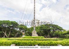 Bangkok, Thailand - June 5, 2016: A main traffic circle in Chulalongkorn university.