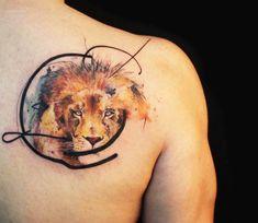 Lion tattoo by Tattoo Tayfun