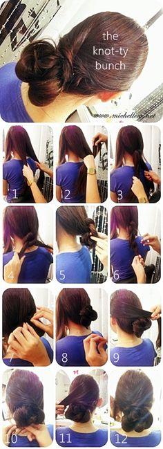 knotty bun hair-do