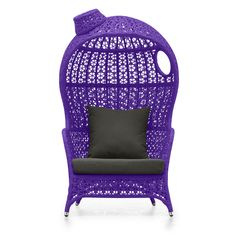 Kaya Club Chair Purple If I could I would buy this for my granddaughter, Esther! Purple Love, Purple Hues, All Things Purple, Shades Of Purple, Deep Purple, Purple Stuff, Purple Furniture, Purple Home Decor, Purple Chair