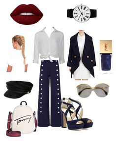 """""""Sailor"""" by e-rakosi on Polyvore featuring Mode, Tory Burch, Burberry, Tommy Hilfiger, Jimmy Choo, Charlotte Russe, Yves Saint Laurent und Rosendahl"""