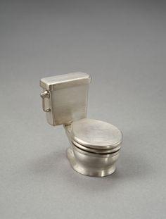 "Toilet Ring, 2009 Dimension: H1.5"" x W1"" x D1.5"" Medium: sterling silver photos by Karen Philippi"