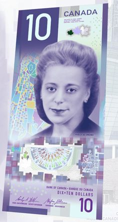 Canadas New 10 Bill entered circulation this week. It features Viola Desmond a Canadian civil rights icon and tons of new security features. Canadian Things, I Am Canadian, Canadian History, Canadian Rockies, Maple Leaf, Creepy, Canada 150, Western Canada, True North
