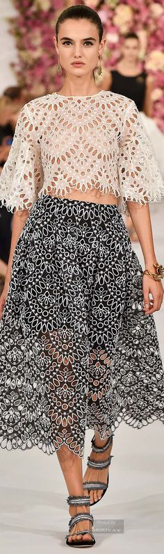 Oscar de la Renta.Spring 2015 - I would probably separate the pieces to wear with other stuff but still nice...