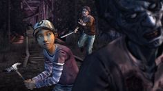 the walking dead season 2 Luke Clem and a walker. Walking Dead Gif, The Walking Dead Telltale, Walking Dead Season, Playstation Store, The Wolf Among Us, Tales From The Borderlands, Latest Video Games, Video Game Reviews, House Divided