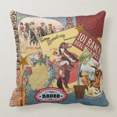 Emvency Throw Pillow Cover Wild Modern Vintage Western West Decorative Pillow Case Home Decor Square 18 x 18 Inch Pillowcase Cowgirl Nursery, Cowboy Bedroom, Cowgirl Room, Western Bedroom Decor, Western Rooms, Western Bedding, Vintage Cowboy Nursery, Vintage Western Decor, Vintage Cowgirl
