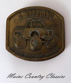 Vintage 4 Wheeling More Than Just Drinking 4 x 4 Belt Buckle Four Wheel Drive | eBay