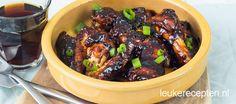 Kip in een lekkere sticky en zoete maar toch ook licht spicy saus gemaakt van o.a. Coca Cola.