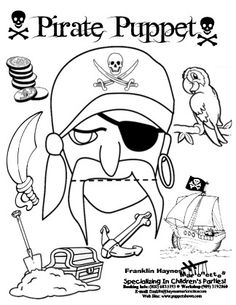 Tons of FUN puppets!! Preschool Pirate Theme, Pirate Activities, Craft Activities For Kids, Book Activities, Pirate Day, Pirate Birthday, School Themes, Classroom Themes, Pirate Crafts