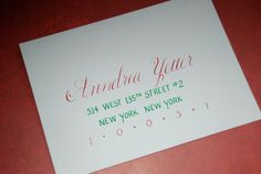 Calligraphy  For The Holidays by SouthernCalligraphy on Etsy, $2.00