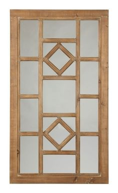 Dreama Wall Decor Signature Design in Wall Art. Gorgeous grillwork gives this Dreama accent mirror by Signature Design a charming window-to-the-world quality. Light finish maintains the natural beauty of the wood frame. Wooden Window Design, Window Grill Design Modern, Grill Gate Design, House Window Design, Pooja Room Door Design, Door Gate Design, Door Design Interior, Main Door Design, Interior Modern