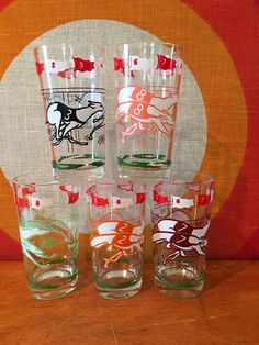 Vintage Greyhound Racing Glasses, Set of 5, Mid Century Boscul Peanut Butter Tumblers, Race Dog Cocktail Glasses, Running Dogs Barware by CapeCodModern on Etsy