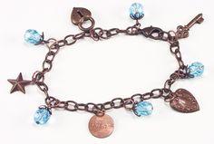 Jewelry Making Idea: Vintage Charm Bracelet  #eebeads