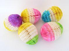 Vintage Honeycomb Easter Eggs