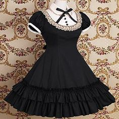 Short Sleeve Knielanger Cotton Schule Lolita Kleid 407814 2016 – €45.07