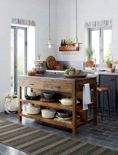 Küchen Rustikal, Küche Freistehend, Moderne Küche, Bauernhaus, Küchen  Design, Haus Küchen