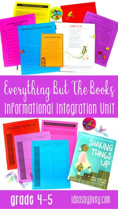 This information writing, reading, and mentor sentence integration unit is packed with a variety of activities for kids in 4th and 5th grades. Click the pin to read about all the ideas and engaging activities included!
