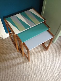upcycled nest of tables happyretro.com