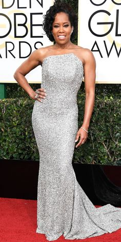Regina King in Romona Keveža Collection. - All the Glamorous Looks from the 2017 Golden Globes Red Carpet - Regina King from InStyle.com