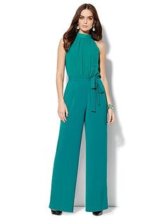 Shop Sleeveless Mock-Neck Jumpsuit - Solid. Find your perfect size online at the best price at New York & Company.