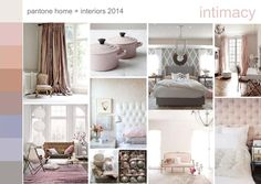 Pantone home + interiors 2014 color trend INTIMACY. Softly tactile, closely connected, yet subtly different; a happy marriage of adaptable warm, cool and neutral tones Global Design, E Design, Wall Design, Design Trends, New York Fashion, Interior Design Presentation, Home Trends, 2014 Trends, Home Decor Lights