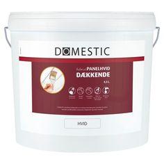 Domestic Dækkende træmaling / Farve: Hvid / Størrelse: 4,5 ltr