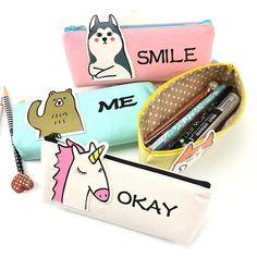 Cute Animal Design Makeup Case & Pencil Case for Little Girls & Boys