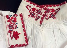Scandinavian Embroidery, Folk Clothing, Embroidery Fashion, White Shorts, Belt, Costumes, Diy, Outfits, Clothes