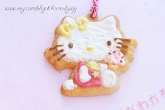 LIMITED Hello Kitty Mascot Cookie Charm Re Ment by CharmsByIzzy, £3.00