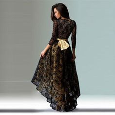 'Barcelona's Promise' Lace Formal Gown