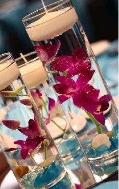 12 Piece Set Orchids Wedding Reception Table Centerpiece - Custom Made To Order, 34% off | Recycled Bride