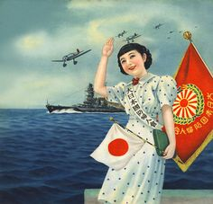 Return of Imperial Japanese Navy forces by Greater Japan National Defense Women's Association