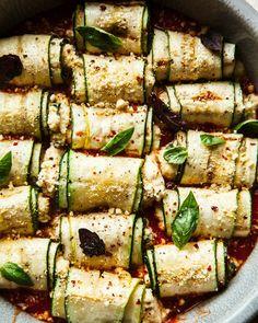 Zucchini Involtini with Almond Ricotta (vegan)   The First Mess