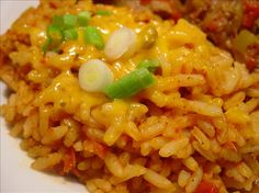 Quick Spanish Rice from Food.com: Great side dish for your Mexican fiesta. Try with Chile Verde (Beef or Pork)! It is as good as you'll find in any Mexican restaurant. Update: 1 teaspoon cumin was added to original recipe. I took some of my reviewers suggestion and added 1 teaspoon of cumin to the recipe. They were right. Cumin definitely adds to the taste.