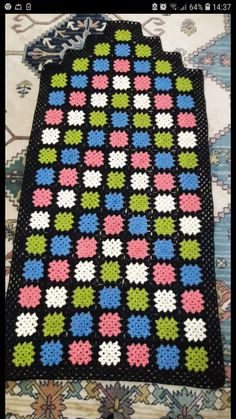 Joining Crochet Squares, Crochet Borders, Crochet Granny, Filet Crochet, Crochet Stitches, Granny Square Blanket, Diy And Crafts, Projects To Try, Rugs