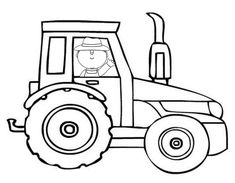 Printable Fun Tractor Coloring Pages For Kids - Coloring Ideas Coloring Pages Nature, Coloring Pages To Print, Printable Coloring Pages, Coloring Pages For Kids, Tractor Coloring Pages, Dinosaur Coloring Pages, Tractor Drawing, Tractors For Kids, Diy Educational Toys