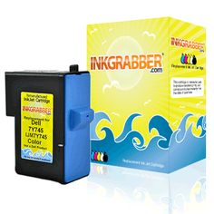 InkGrabber.com Color Remanufactured Inkjet Cartridge - Replaces the Dell 7Y745 / X0504 (Series 2) (Dell Inkjet A940, Dell Inkjet A960)