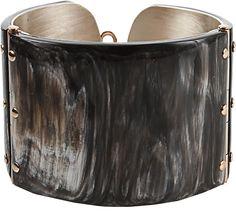 FEDERICA RETTORE Melange Black Zebu Horn Cuff Bracelet on shopstyle.com