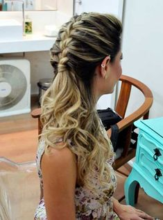 Hairstyles For Kids Chic Long Braided Pony Hairstyles for Prom 2018 Pony Hairstyles, Pretty Hairstyles, Wedding Hairstyles, Head Band, Blond Hairs, How To Make Hair, Sheila, Prom Hair, Hair Dos
