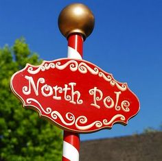 North Pole Sign Post