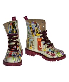 Look at this Neefs White & Rainbow Letter Boot on #zulily today!