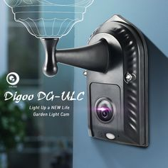 Digoo DG-ULC Gardening Flood Light Camera WIFI H.265 HD 1080P 2.4mm 120°Wide Angle Lens PIR Sensor Onvif IPX5 Waterproof Front Door Lighting Camera Light Holder
