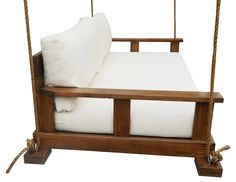 Relax with a good book or a warm cup of coffee on this luxuriously cozy bed-length swing. With a cushion of durable Sunbrella fabric over a five-inch-thick marine-grade foam mattress, it is the...