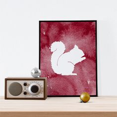 New to WallCandyPrintables on Etsy: Squirrel Silhouette Christmas Art Holiday Printable Holiday Art Winter Art Christmas Squirrel Winter Printable (5.00 USD)