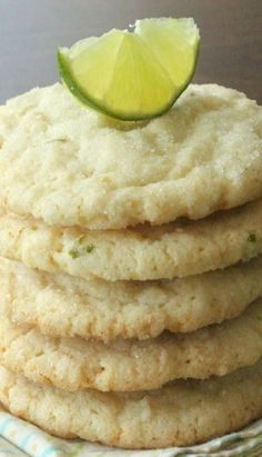Chewy Coconu Lime Sugart Cookies